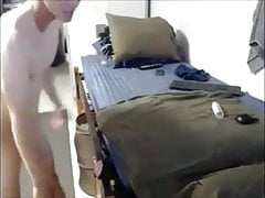 Fleshlight bed fuck & cumshot