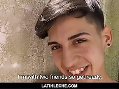 LatinLeche - Cameraman Introduces A Horny Latino Boy To Two Well Hung Studs|38::HD,63::Gay,1871::Bareback,1911::Blowjob,2011::Group,2061::Latino,2141:
