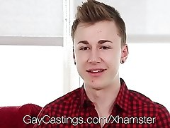 GayCastings - First Porn Scene for Twink Travis Stevens