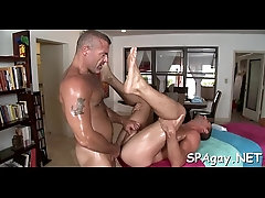 Pleasing twink gets his slutty anal canal thrashed by hunk