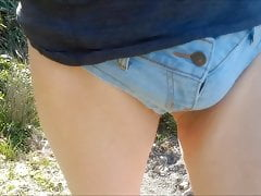 Hotpants wearing dude at the beach