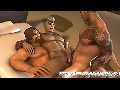 Group sex of three  gay man