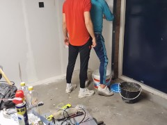 'finally fucked my co worker bareback during construction work'