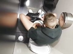 Spying on teen wanking in toilets