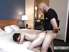 boy gets rough by cop