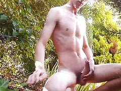 twink cums outside