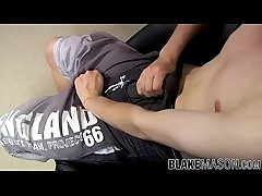 Dirty little butt pirate tugs his hard cock and cums solo