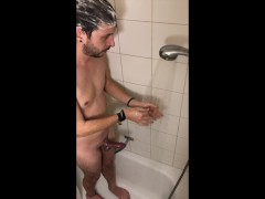 Spy best friend Ethan Yovis under shower