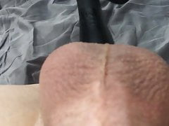 Twink fucks his tight pussy hole with dildo