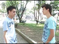 Latin Twinks Honorio and Josue Fuck Bareback