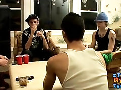Straight buddies get together for a hot jerk off session|63::Gay,1891::Big Cock,2011::Group,2131::Straight,2141::Twink