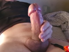 'Schoolboy takes a selfie as he stretches his uncut cock'