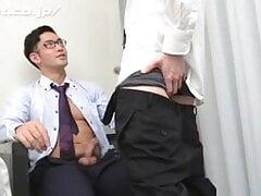 Coat JP Eishin in Black Business Socks Fucks A Twink