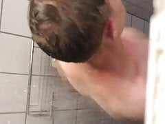 Spying on a guy jerking off in the shower
