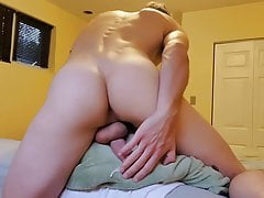 Twink cums humping a pillow
