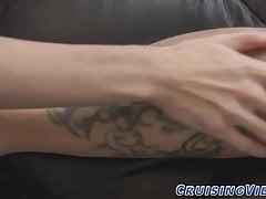 Gay twink worships feet and licks
