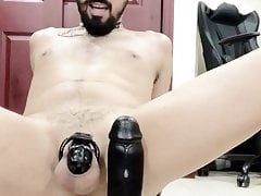 BBC MONSTER in my ass!Huge gaping crackhole!