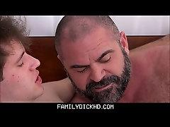 Bear Step Dad Catches His Son Masturbating Then Teaches