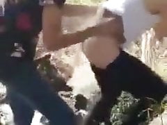 Two tunisans fuck in the forest